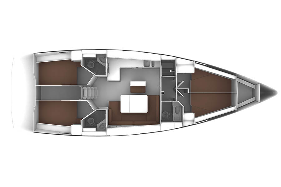 Bavaria Cruiser Layout