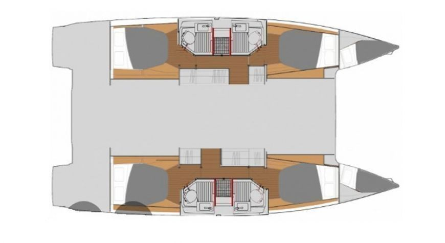 Fountaine Pajot - Astrea 42 - Layout