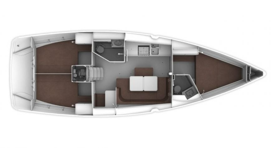 Bavaria Cruiser 41 - lay out