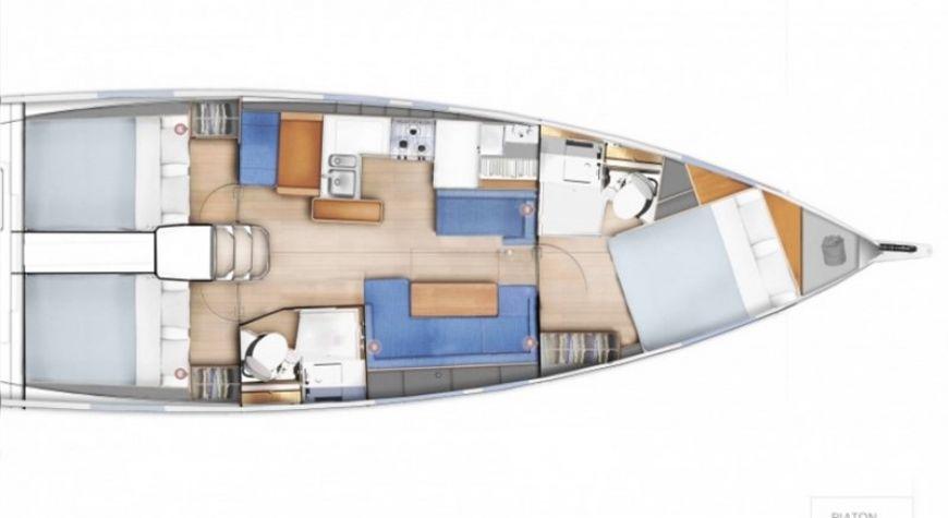 Sun Odyssey 410 - layout