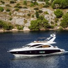 Sunseeker 70 name 'Shine'