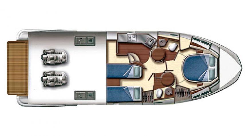 Azimut 43 fly - Shine VI - layout